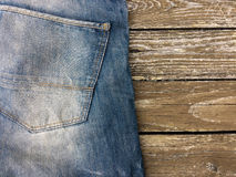 Close-up shot of blue jeans. Royalty Free Stock Photos