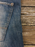 Close-up shot of blue jeans. Stock Photography