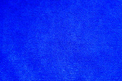Close up shot of blue microfiber cloth texture for background Stock Photo