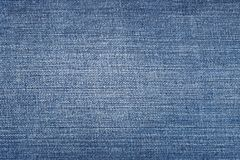 Close up shot of blue worn denim jeans fabric Royalty Free Stock Image
