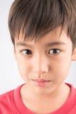 Close up shot on boy's face Stock Photos