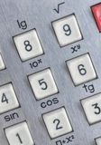 Close up shot of calculator Stock Images