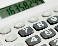 Close up shot of calculator Royalty Free Stock Photos