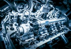 Close up shot of car engine Royalty Free Stock Images