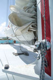 Close up shot of catamaran sailing equipment Royalty Free Stock Photo