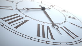 Close up shot of a classical clock stock video