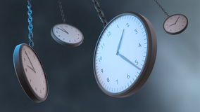 Close up shot of a classical clock stock footage