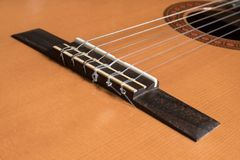 Classical Guitar Bridge Stock Images