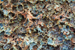 Close up shot of cold lava Royalty Free Stock Photography