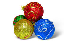Close up shot of color Christmas balls Stock Photo