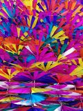 Colorful toy windmills backgrounds Stock Photo