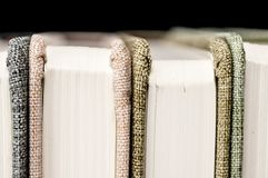 Vintage books. Close up shot of colorful vintage books stock photo