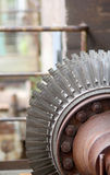 The close up shot of the compressor rotor blades Royalty Free Stock Photo