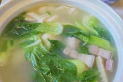 Close up shot of delicious Shanghai style  soup. Close up shot of delicious Shanghai style soup, ate at Los Angeles Royalty Free Stock Photos