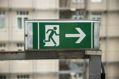 Shot of an emergency exit sign royalty free stock image