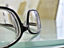 Close up shot of   eye glasses Royalty Free Stock Photo