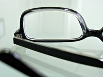 Close up shot of   eye glasses Stock Image