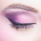 Close-up shot of female eye make-up Stock Photography