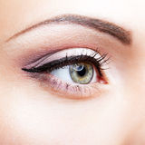Close-up shot of female eye Royalty Free Stock Image