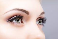 Close-up shot of female eyes Royalty Free Stock Images