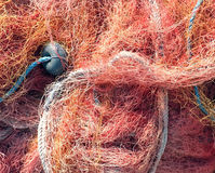 Close up shot of fishermen's net Royalty Free Stock Photos