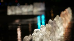 A close up shot of a fountain. stock footage