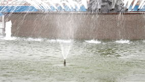 Close up shot of Fountain standing outdoor stock video footage
