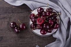 Close-up shot fresh cherry stock image
