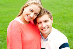 Close up shot of gorgeous young love couple Royalty Free Stock Photography