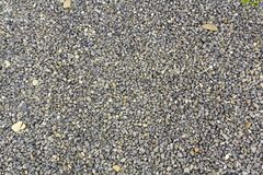 Close up shot of gravel rocks pebble stones as a background Royalty Free Stock Photo