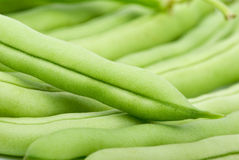 Close-up shot of green bean pods Royalty Free Stock Photography