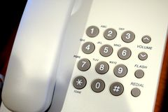 Close up shot of grey phone keypad. Select the focus point Royalty Free Stock Photo