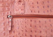 Close up shot of hand bag zipper. Extreme close up shot of hand bag zipper Royalty Free Stock Images
