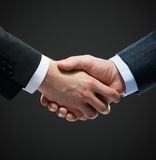 Close up shot of hand shake Royalty Free Stock Photo