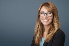 Executive financial businesswoman Stock Image