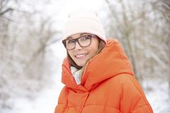 Enjoy winter weather outdoor Royalty Free Stock Image