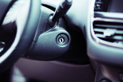 Close up shot of the ignition keyhole in a car Royalty Free Stock Photo