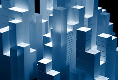 Illuminated blocks Royalty Free Stock Photo