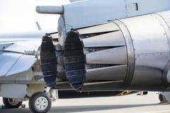 Close up shot of a jet engine afterburner. Stock Photography