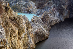 Close-up shot of Kelimutu crater lakes. royalty free stock image