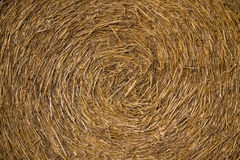 A close-up shot of a large bail of hay Stock Photos