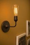 Close up shot of a light bulb stock photo