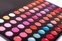 Close-up shot of lip gloss palette. Soft focus Stock Photo