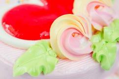 Close up shot(macro) of cake flower Royalty Free Stock Photography