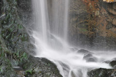 Close up shot of majestic waterfall Royalty Free Stock Photo