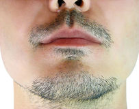 Close-up shot of a man's chin Stock Images