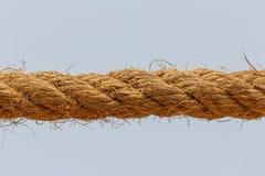 Close up shot of manila rope Royalty Free Stock Photos