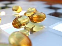 Close up shot of medicine caps Stock Photo