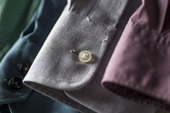 Close-up shot of men's shirt sleeves Stock Photo