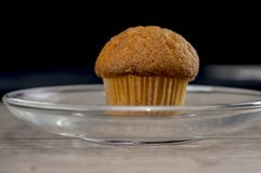 Mini muffin in glass plate Stock Photography